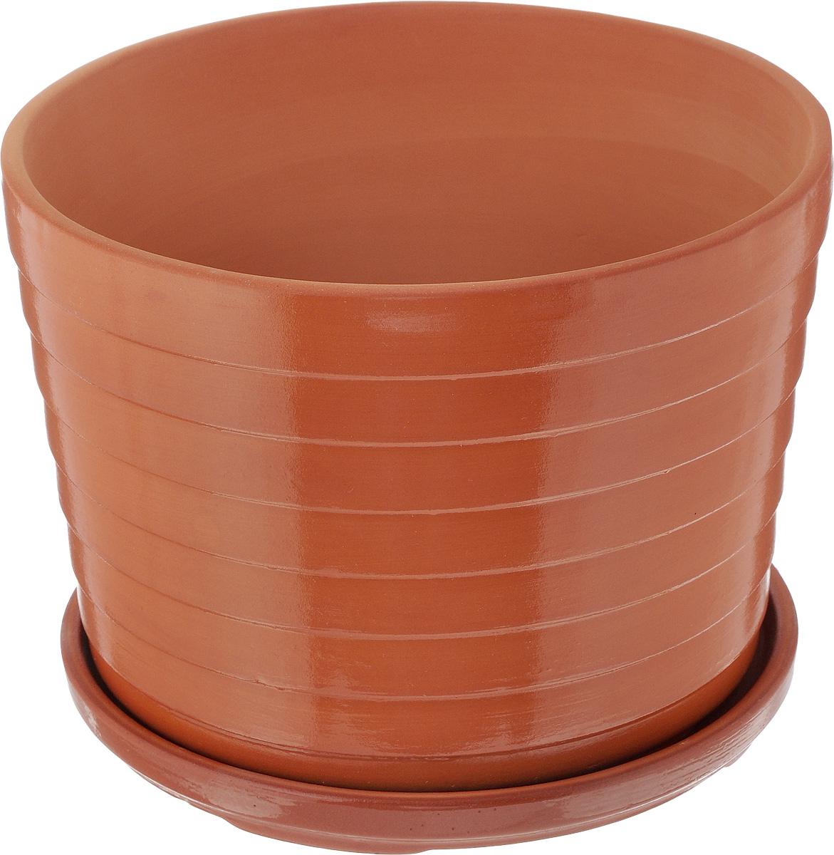 Горшок для цветов Ломоносовская керамика Риф, с поддоном, 3,5 л3Цр3-3Горшок Ломоносовская керамика Риф изготовлен из высококачественной керамики и оснащен поддоном для стока воды. Изделие прекрасно подойдет для выращивания растений дома и на приусадебных участках.Диаметр (по верхнему краю): 22 см. Высота (с поддоном): 16 см. Размер поддона: 21 х 21 х 2 см.