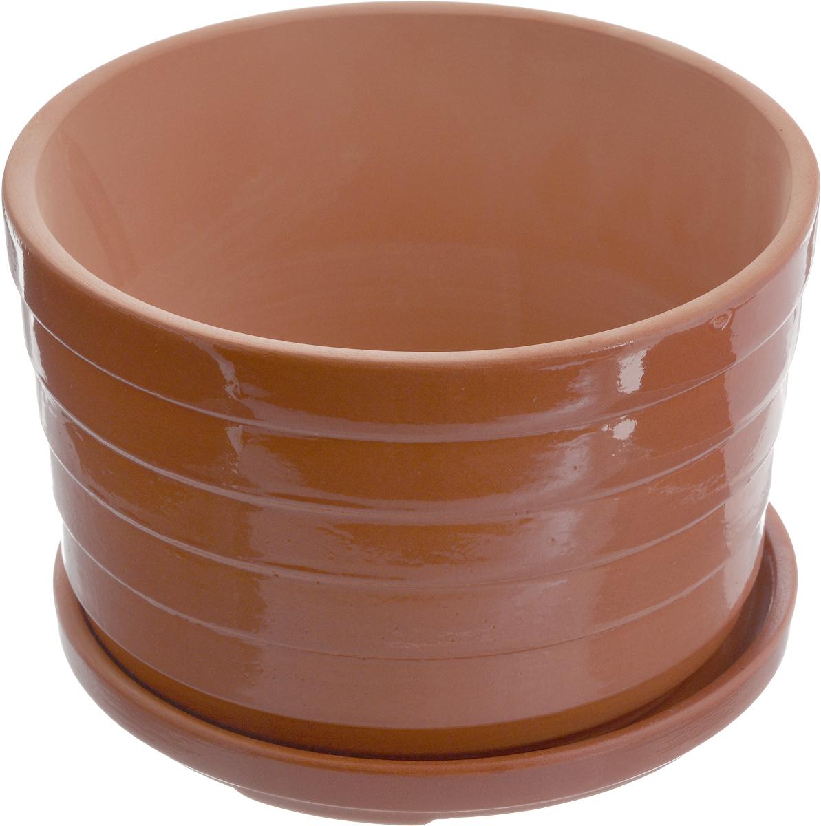 Горшок для цветов Ломоносовская керамика Риф, с поддоном, 1,8 л3Цр3-1Горшок с поддоном Ломоносовская керамика Риф выполнен из глины. Внешние стенки изделия покрыты глазурью. Горшок предназначен для выращивания цветов, растений и трав. Он порадует вас функциональностью, а также украсит интерьер помещения.Объем: 1,8 л.Диаметр горшка (по верхнему краю): 18 см. Высота горшка: 11,5 см. Размер поддона: 17,5 х 17,5 х 2 см.
