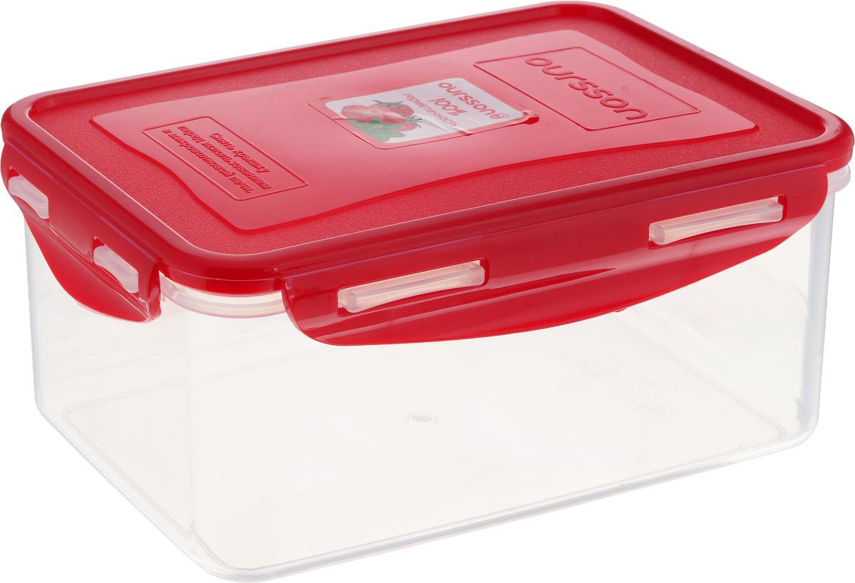 Контейнер Oursson, прямоугольный, 1,5 лCP1503S/RDКонтейнер Oursson изготовлен из высококачественного пластика. Изделие идеально подходит не только для хранения, но и для транспортировки пищи. Контейнер имеет крышку, которая плотно закрывается на 4 защелки и оснащена специальной силиконовой прослойкой, предотвращающей проникновение влаги, запахов и вытекание жидкости. Изделие подходит для домашнего использования, для пикников, поездок, отдыха на природе, его можно взять с собой на работу или учебу.Выдерживают температуру от -24°С до +125°С. Можно использовать в СВЧ-печах, холодильниках и морозильных камерах. Можно мыть в посудомоечной машине.Размер контейнера (без учета крышки): 20 х 13,5 см. Высота контейнера (без учета крышки): 8,5 см.