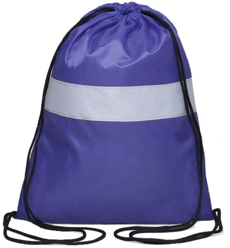 Антей Сумка-мешок для сменной обуви и одежды со светоотражающей полосой цвет синий