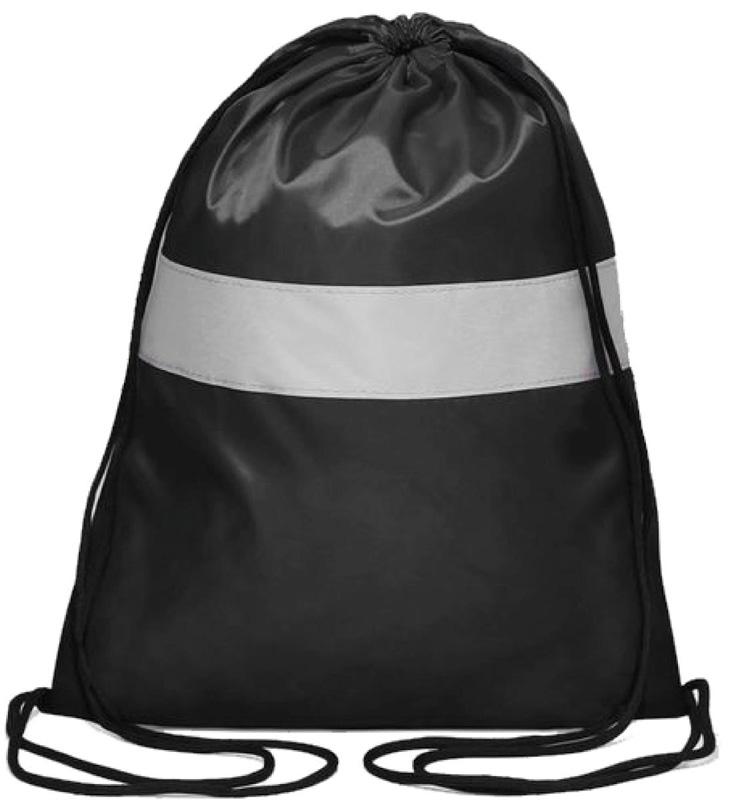 Антей Сумка-мешок для сменной обуви и одежды со светоотражающей полосой цвет черный