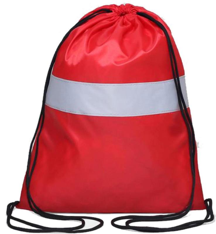 Антей Сумка-мешок для сменной обуви и одежды со светоотражающей полосой цвет красныйЯ-104Сумка-мешок Антей для обуви и одежды со светоотражающей полосой. Предназначен для школьников и дошкольников, затягивается сверху шнурком и носится, как рюкзак.