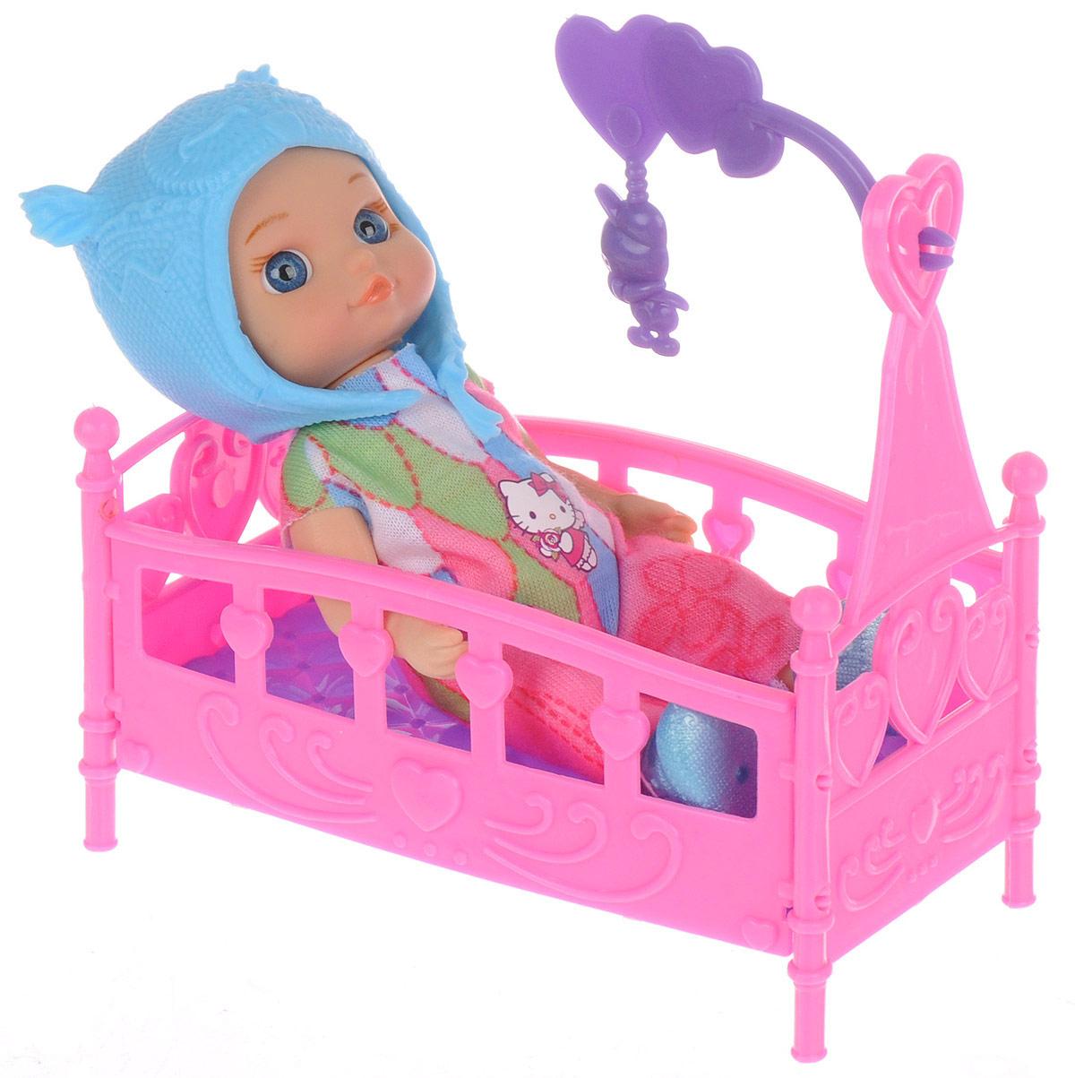Карапуз Мини-кукла Hello Kitty цвет шапки голубой куклы карапуз кукла карапуз