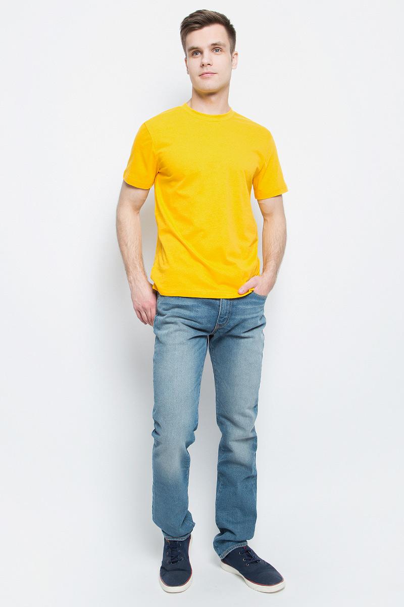 Футболка мужская StarkСotton, цвет: желтый. 13213. Размер XL (52/54)13213Мужская футболка StarkСotton выполнена из натурального хлопка. Модель с круглым вырезом горловины и короткими рукавами удобна для повседневной носки, а также подходит для занятий спортом.