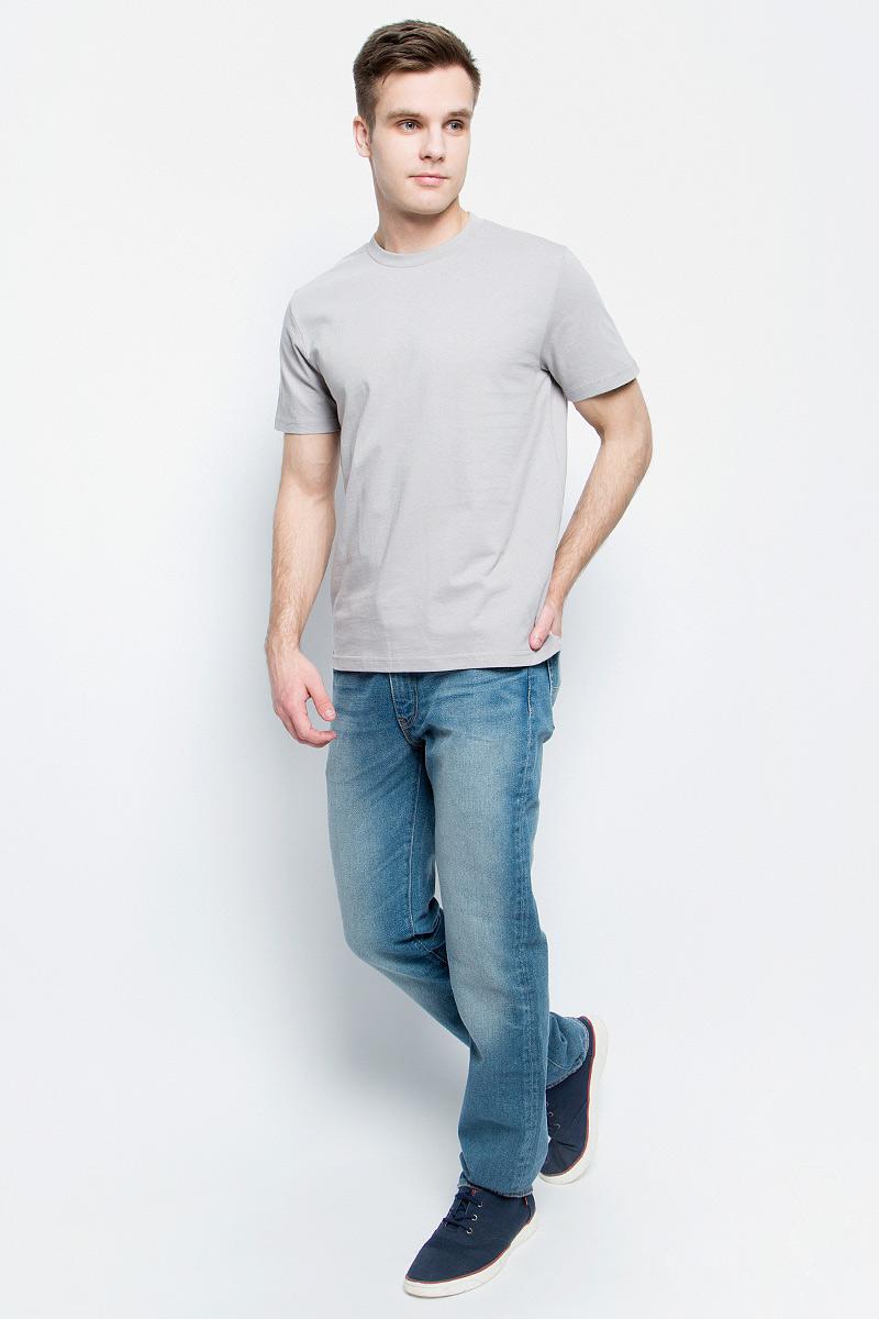 Футболка мужская StarkСotton, цвет: светло-серый. 6211. Размер XL (52/54)6211Мужская футболка StarkСotton выполнена из натурального хлопка. Модель с круглым вырезом горловины и короткими рукавами удобна для повседневной носки, а также подходит для занятий спортом.