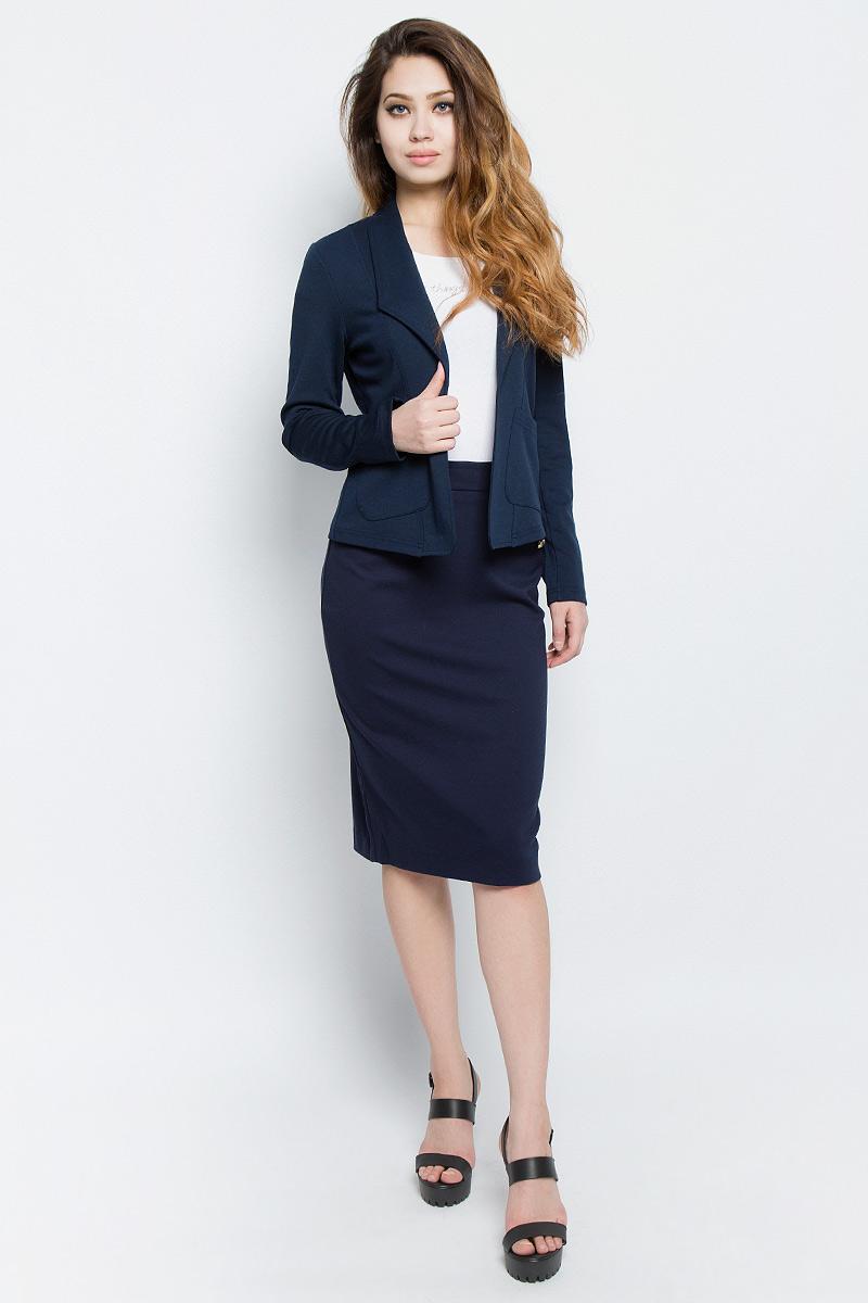 Жакет женский Tom Tailor Denim, цвет: темно-синий. 3922950.00.71_6593. Размер L (48)