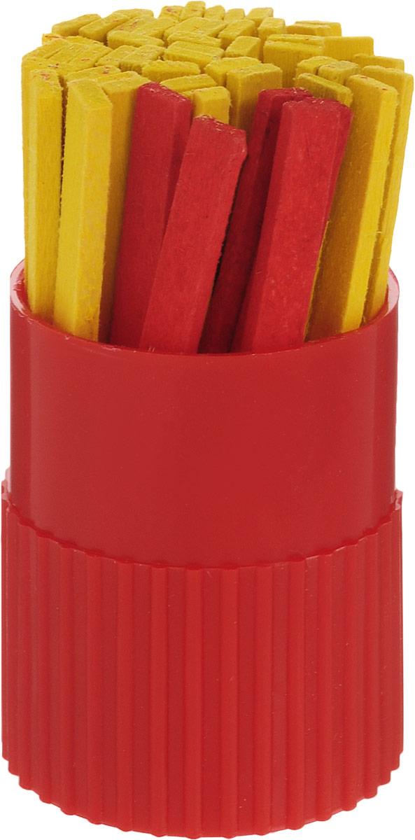 Красная звезда Набор счетных палочек цвет упаковки красный 50 штС21_красныйНабор счетных палочек Красная звезда - прекрасно подойдут для дошкольников и учащихся начальных классов, на занятиях в детском саду и уроках математики, логики в школе.Счетные палочки выполнены из натуральной древесины, обработаны гипоаллергенными красителями. Счетные палочки выполнены в двух цветах. Основной цвет - красный, а каждая десятая палочка выполнена в другом цвете.В наборе 50 палочек в пластмассовом тубусе.