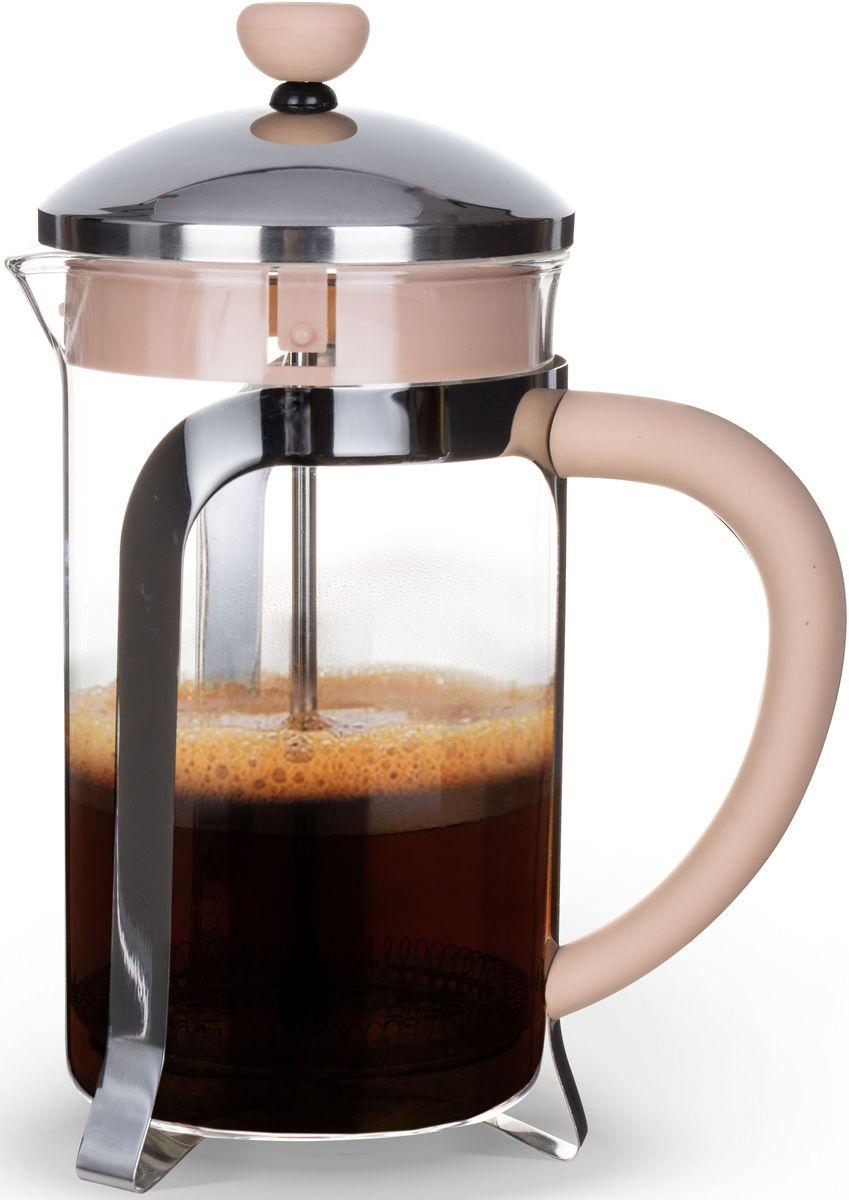 Заварочный чайник Fissman Cafe Glace, с поршнем, 800 мл. 9056FP-9056.800Заварочный чайник Fissman Cafe Glace изготовлен изжаропрочного стекла, нержавеющей стали и пластика. Фильтр-поршень из нержавеющей стали оснащен ситечком для обеспечения равномерной циркуляцииводы. Засыпая чайную заварку или кофе под фильтр, заливаягорячей водой, вы получаете ароматный напиток соптимальной крепостью и насыщенностью. Остановитьпроцесс заваривания легко, для этого нужно просто опуститьпоршень, и все уйдет вниз, оставляя вверху напиток, готовый купотреблению. Изделие оснащено эргономичной прорезиненнойручкой, которая обеспечит безопасный и удобныйхват. Такой чайник позволит быстро и простоприготовить свежий и ароматный кофе или чай. Объем: 800 мл.