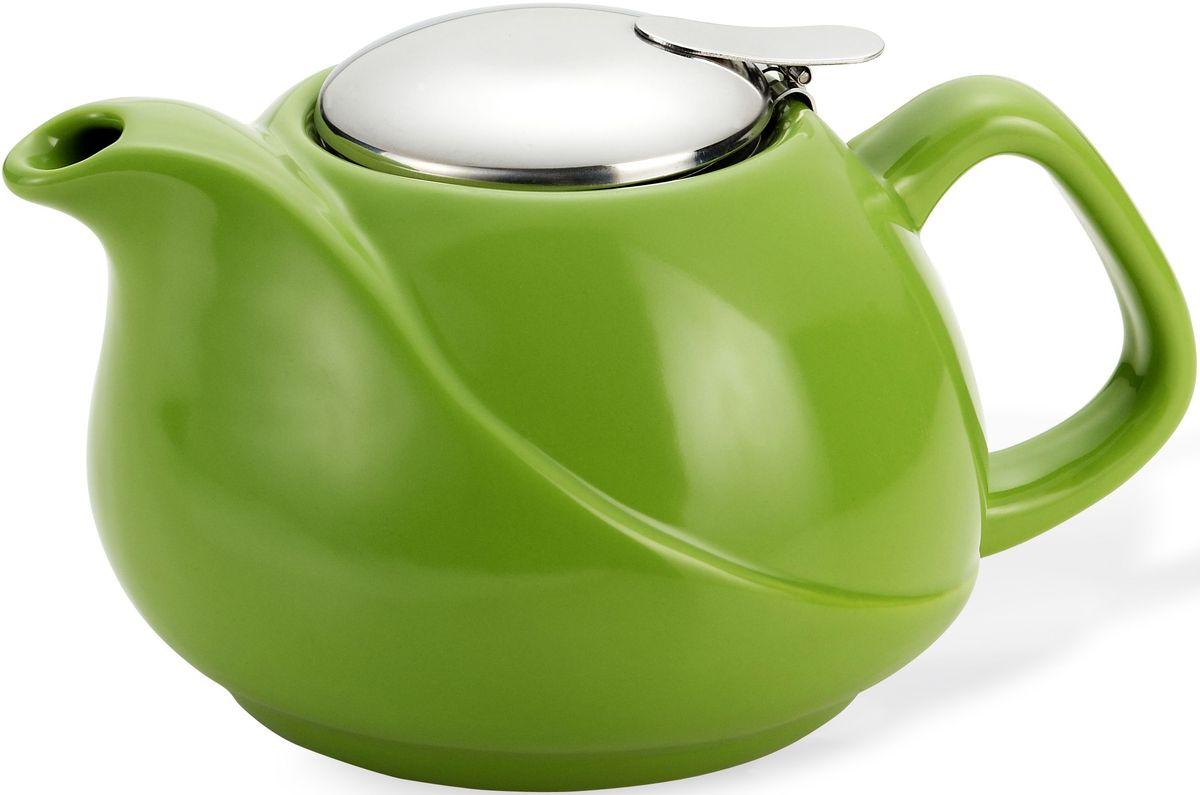 Заварочный чайник Fissman, с ситечком, цвет: зеленый, 750 мл