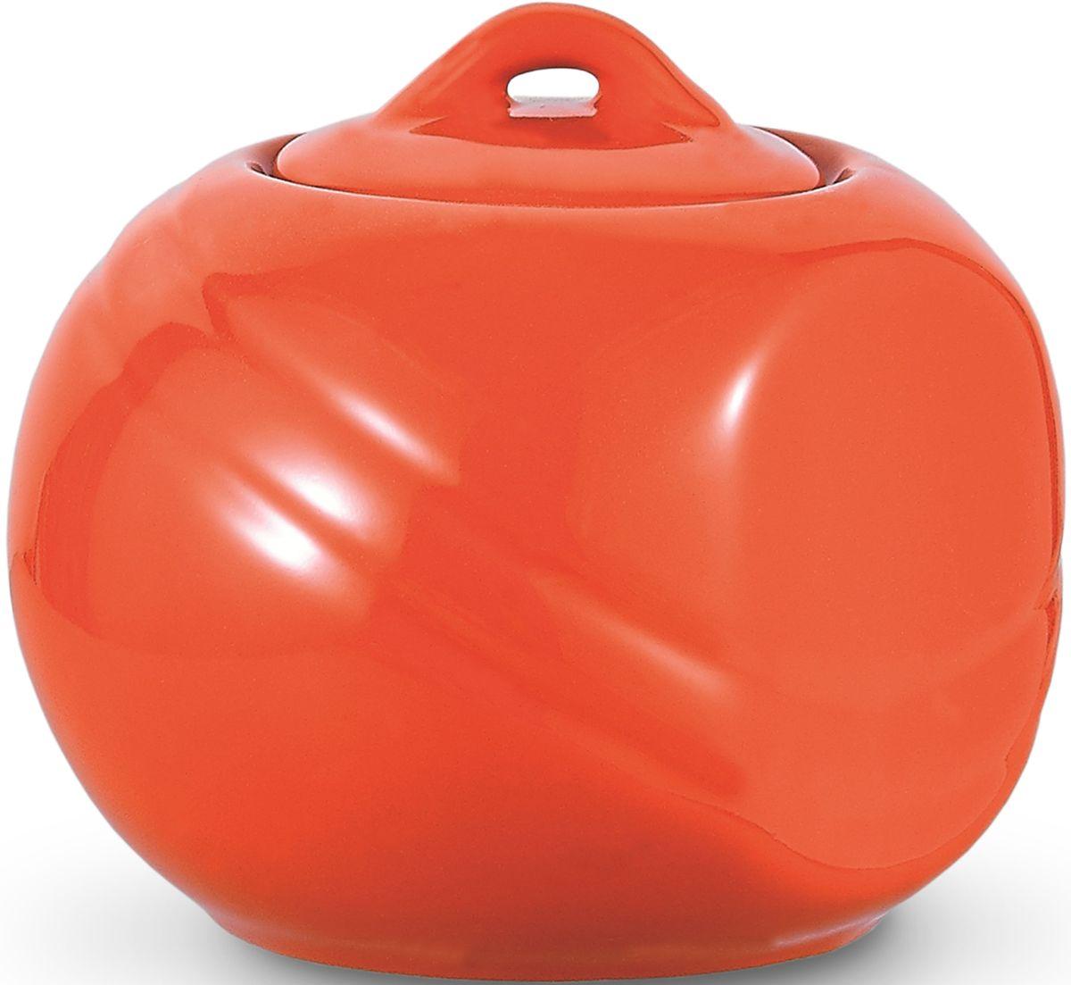 Сахарница Fissman, цвет: оранжевый, 350 мл. 9280SB-9280.350Сахарница Fissman выполнена из высококачественной керамики.Изделие имеет элегантную форму и закрывается крышкой.Сахарница Fissman станет отличным дополнением к сервировке семейного стола и замечательным подарком для ваших родных и друзей.Можно мыть в посудомоечной машине и использовать в микроволновой печи. Объем: 350 мл