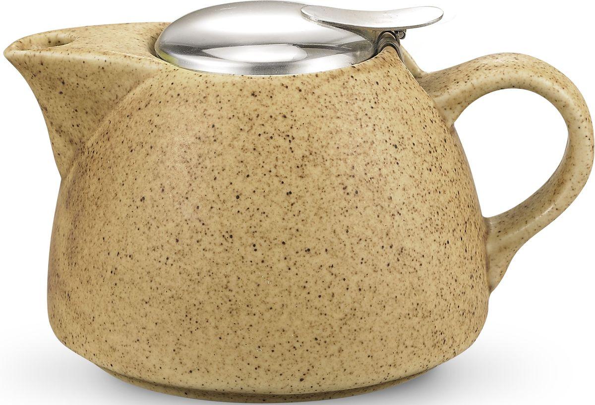 Заварочный чайник Fissman, с ситечком, цвет: песочный, 1000 мл. 9299TP-9299.1000