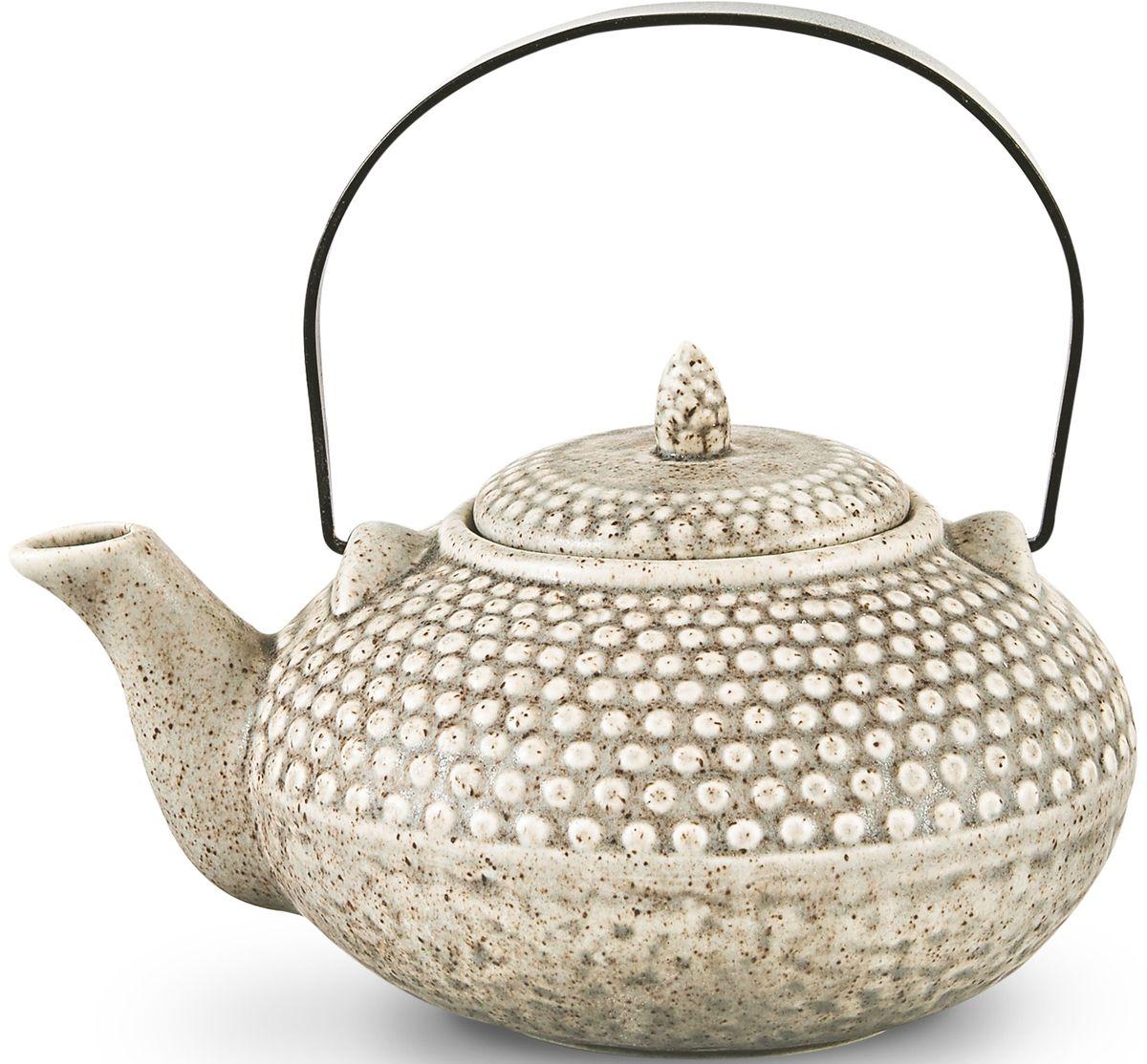 Чайник заварочный Fissman, с ситечком, цвет: серый песочный, 750 мл. 9349TP-9349.750