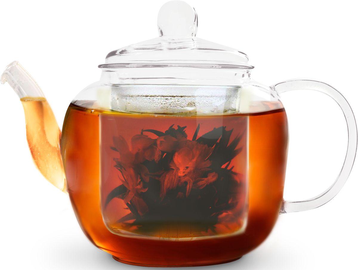 """Заварочный чайник Fissman """"Lucky"""" полностью изготовлен из высококачественного стекла и снабжен крышкой. Стеклянный корпус и фильтр обеспечивают легкую очистку. Лаконичный дизайн изделия прекрасно впишется в любой интерьер.  Чайник поможет заварить крепкий ароматный чай и великолепно украсит стол к чаепитию.  Объем: 1 л."""