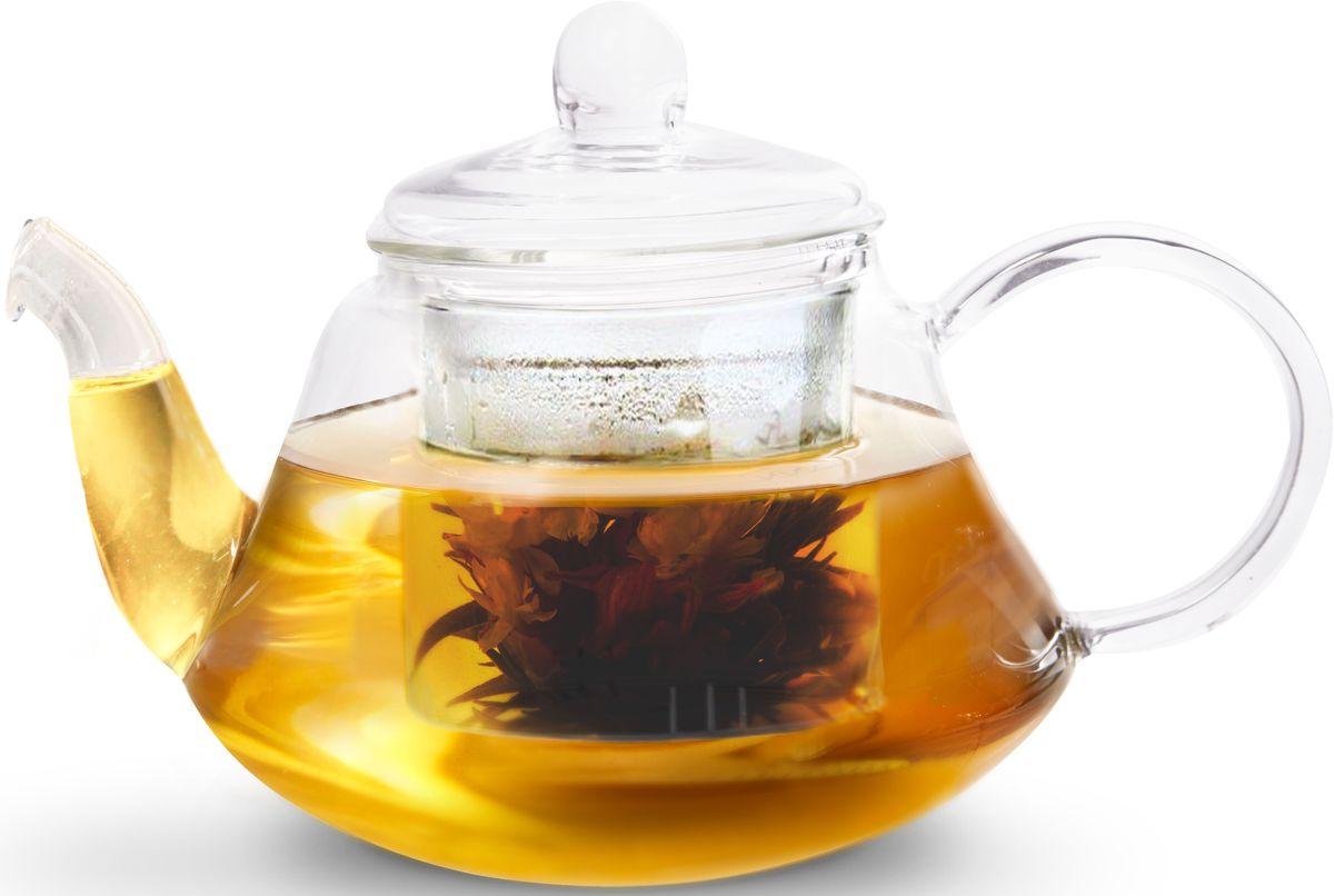 Чайник заварочный Fissman Lucky, со стеклянным фильтром, 1 л. 9363TP-9363.1000Заварочный чайник Fissman Lucky полностью изготовлен из высококачественного стекла и снабжен крышкой. Стеклянный корпус и фильтр обеспечивают легкую очистку. Лаконичный дизайн изделия прекрасно впишется в любой интерьер.Чайник поможет заварить крепкий ароматный чай и великолепно украсит стол к чаепитию.Объем: 1 л.