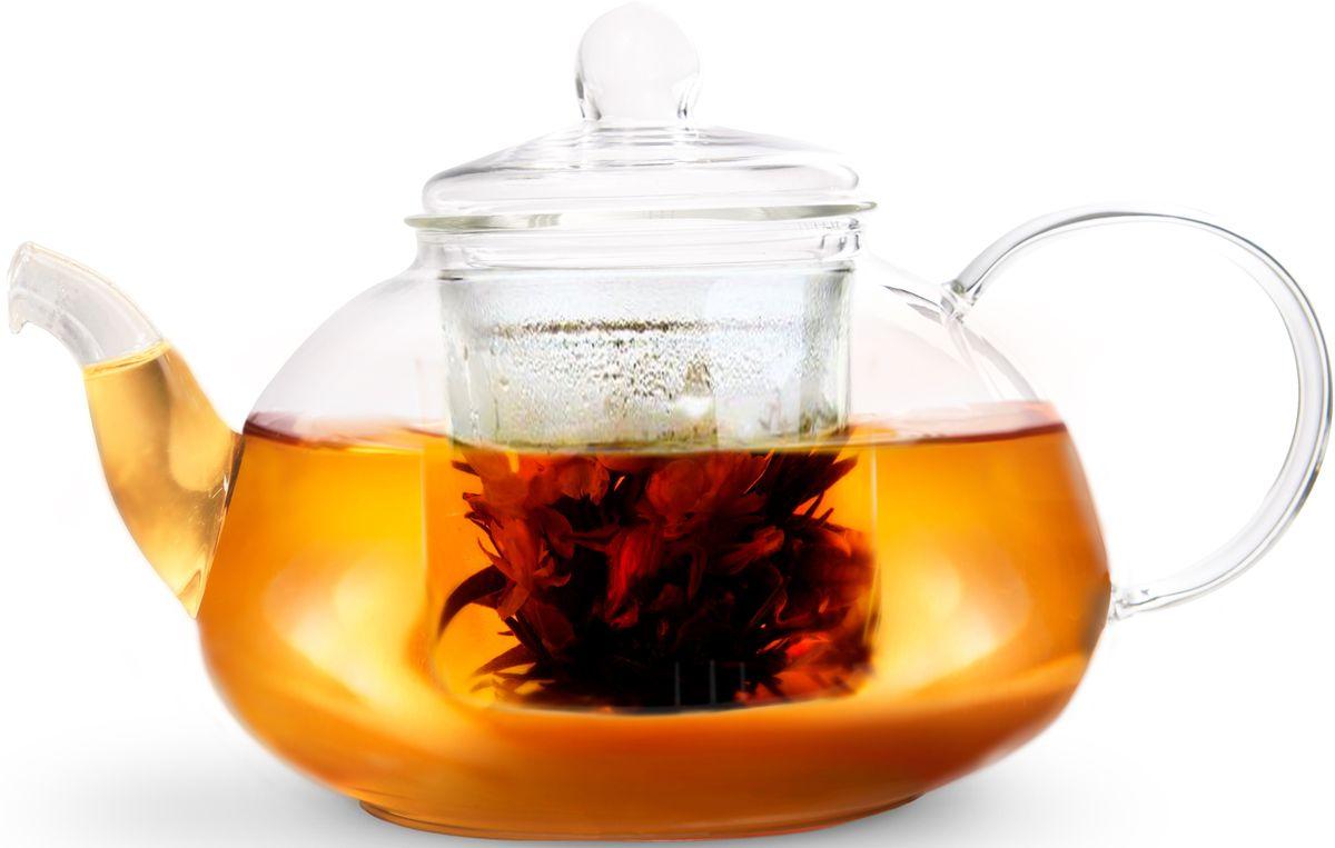 Чайник заварочный Fissman Lucky, со стеклянным фильтром, 1 л. 9365TP-9365.1000Заварочный чайник Fissman Lucky полностью изготовлен из высококачественного стекла и снабжен крышкой. Стеклянный корпус и фильтр обеспечивают легкую очистку. Лаконичный дизайн изделия прекрасно впишется в любой интерьер.Чайник поможет заварить крепкий ароматный чай и великолепно украсит стол к чаепитию.Объем: 1 л.