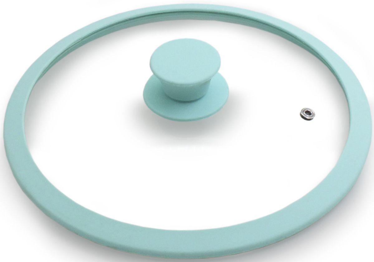 Крышка для посуды Fissman Eden, с силиконовым ободком, цвет: аквамарин, 26 см. 9977GL-9977.26Крышка для посуды Fissman Eden выполнена из жаропрочного стекла и снабжена отверстием для выхода пара. Удобная ручка с силиконовым покрытием предотвращает выскальзывание. Для плотного прилегания крышки предусмотрен силиконовый обод.Диаметр: 26 см.