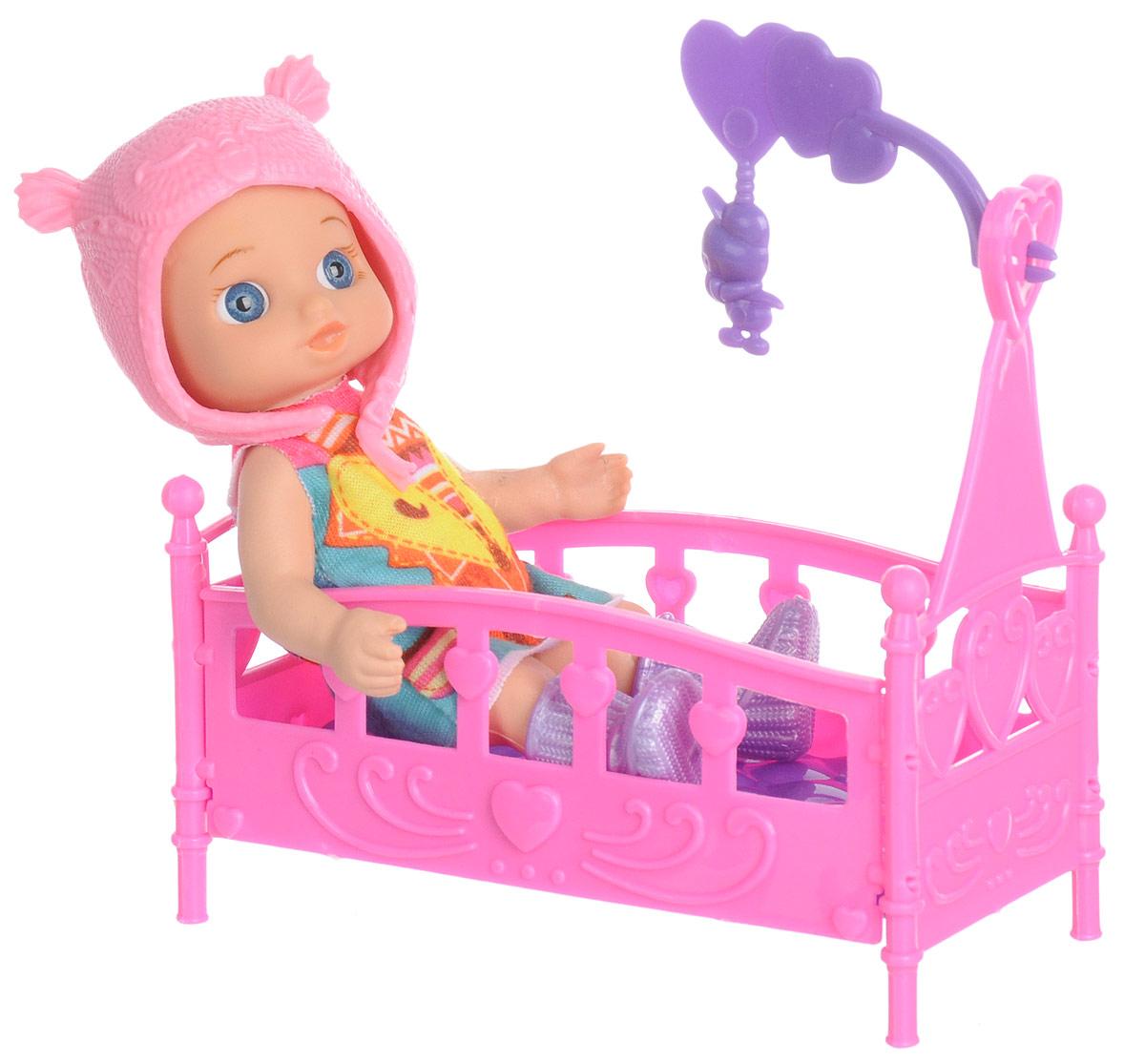 Карапуз Мини-кукла Hello Kitty цвет шапки розовый куклы карапуз кукла карапуз