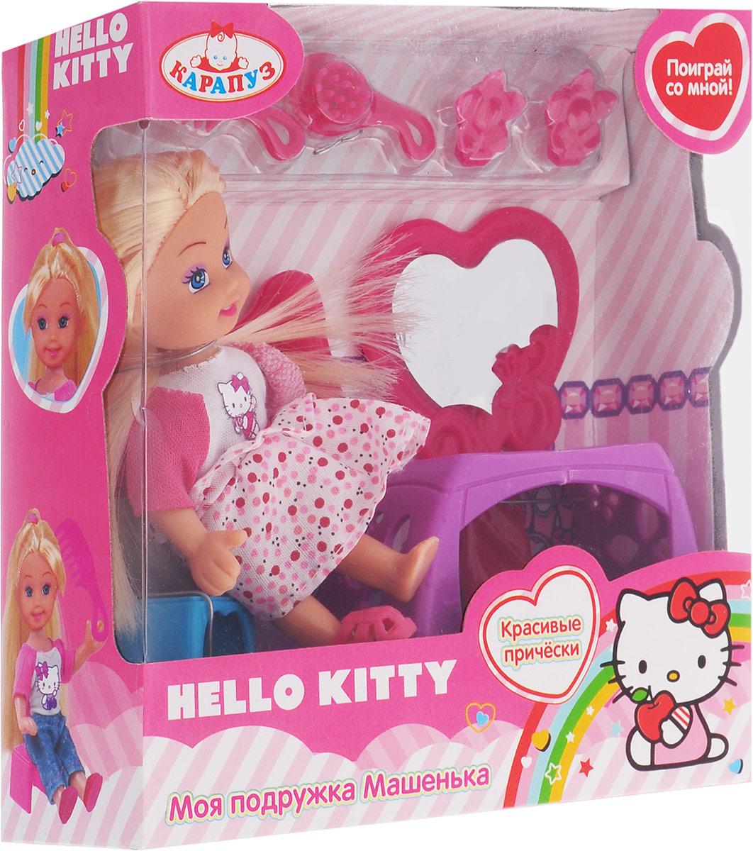 Карапуз Игровой набор с мини-куклой Hello Kitty цвет белый розовый