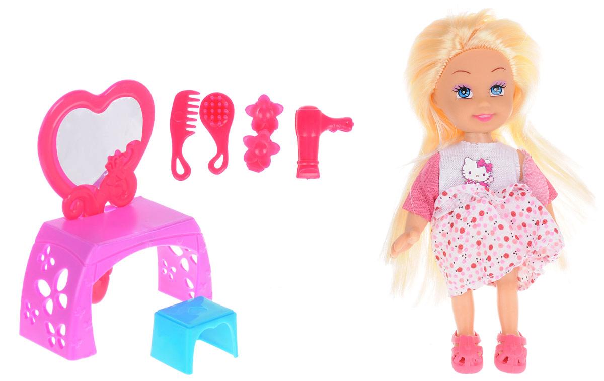 Карапуз Игровой набор с мини-куклой Hello Kitty цвет белый розовый veld co игровой набор с мини куклой my lovely princess цвет одежды сиреневый розовый голубой