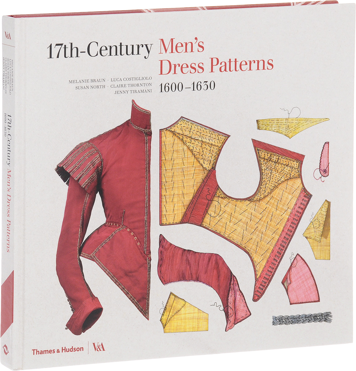 17th-Century Men's Dress Patterns: 1600-1630 ink printing a line dress
