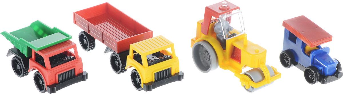 Форма Набор машинок Спецтехника 4 шт набор для игры в песочнице dolu грузовик с просторным кузовом