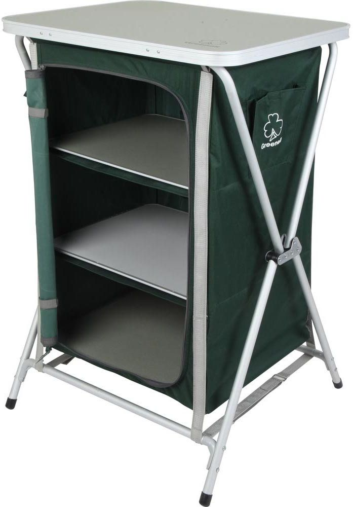 Стеллаж складной Greenell FR-1, цвет: зеленый, 60 х 58 х 980 см