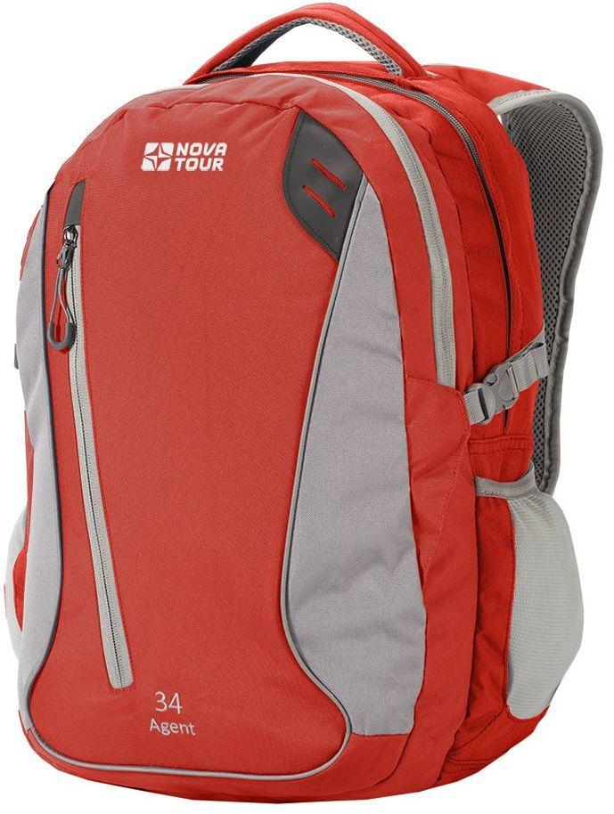 Рюкзак городской Nova Tour Агент, 34 л, цвет: серый, красный рюкзак городской nova tour вижн цвет черный серый 20 л