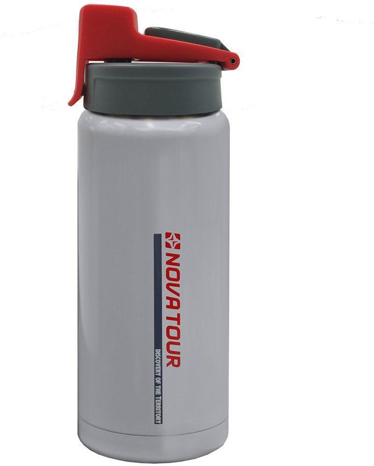 """Термофляга Nova Tour """"Стрим 500"""", изготовленная из нержавеющей стали, используется для хранения и транспортировки как горячих, так и холодных напитков. Имеет герметичную крышку и кнопочный клапан. Резиновая накладка на корпусе препятствует выскальзыванию фляги из рук.Диаметр корпуса: 70 мм.Диаметр горловины: 55 мм.Высота: 210 мм."""