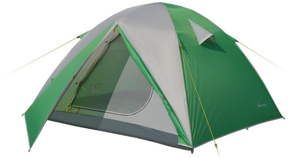 Палатка Greenell Гори 3 V2, цвет: зеленый, светло-серый95967-364-00Универсальная трехместная палатка Greenell Гори 3 V2 идеально подходит для путешествий и походов. В палатке 2 входа и 2 тамбура. Имеется проточная вентиляция.Каркас достаточно прочный и долговечный, выполнен из фибергласса.Водостойкость тента (мм/в.ст.): 2000.