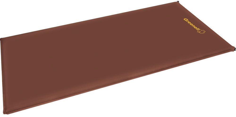 Коврик самонадувающийся Greenel Люкс, цвет: коричневый, 190 х 60 х 10 см