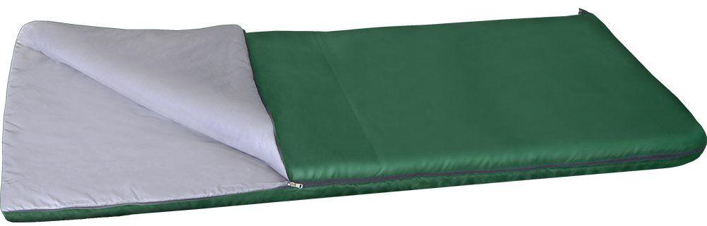 Спальный мешок одеяло Greenell Следи +15, цвет: зеленый, правая молния палатки greenell палатка дом 2