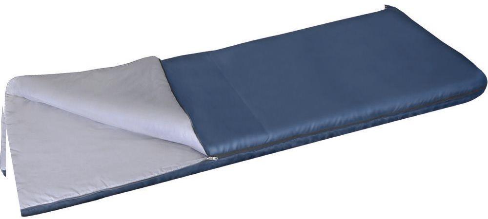Мешок спальный Greenell Бирр +6, цвет: синий, правая молния95977-405-00Бирр - простой мешок-одеяло с синтетическим наполнителем для использования в теплый сезон. Превращается в двухспальное одеяло, если расстегнуть молнию полностью. Разъемная молния позволяет соединять два мешка вместе, увеличивая объем вдвое. Приезд гостей не застанет вас врасплох, так как у вас в запасе всегда будут для них прекрасные одеяла.Характеристики:Т комфорта: +15C.Т экстрима: +6C.Ткань: Polyester.Утеплитель: Termofiber-S-Pro.Вес: 1 кг.