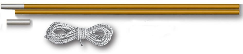 Комплект для дуг фиберглас Greenell V2, цвет: желтый, диаметр 8,5 мм96004-0-00Комплект для дуг Greenell V2 является запасной частью каркаса.Он предназначен для установки палаток Greenell V2. Набор состоит из 2 секций, изготовленных из фибергласа, наконечника и резинки длиной 1.2 м.