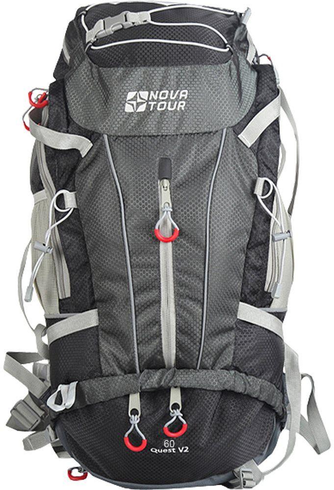 Рюкзак туристический Nova Tour Квест, 60 л, цвет: серый гермомешок внутренний nova tour лайтпак 60 л цвет красный