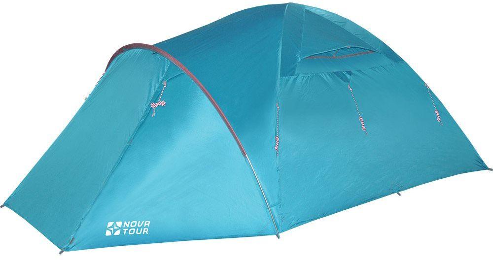 Палатка Nova Tour Терра 4 V2, цвет: нави96027-306-00Nova Tour Терра 4 V2 - это палатка с увеличенным тамбуром для водного туризма.Усовершенствованная система вентиляции, позволяет открывать и закрывать вентиляционный клапан тента изнутри. Она имеет: - УдобныйQ-образный вход; - Оттяжки со светоотражающими нитями; - Герметичный чехол для хранения мокрого тента и внутренней палатки; - Колышки из алюминия.