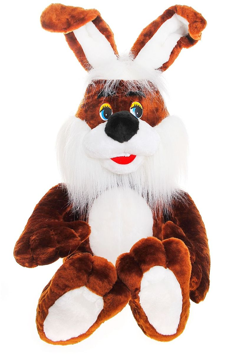 Нижегородская игрушка Мягкая игрушка Шоколадный заяц 90 см 1013096 малышарики мягкая игрушка собака бассет хаунд 23 см