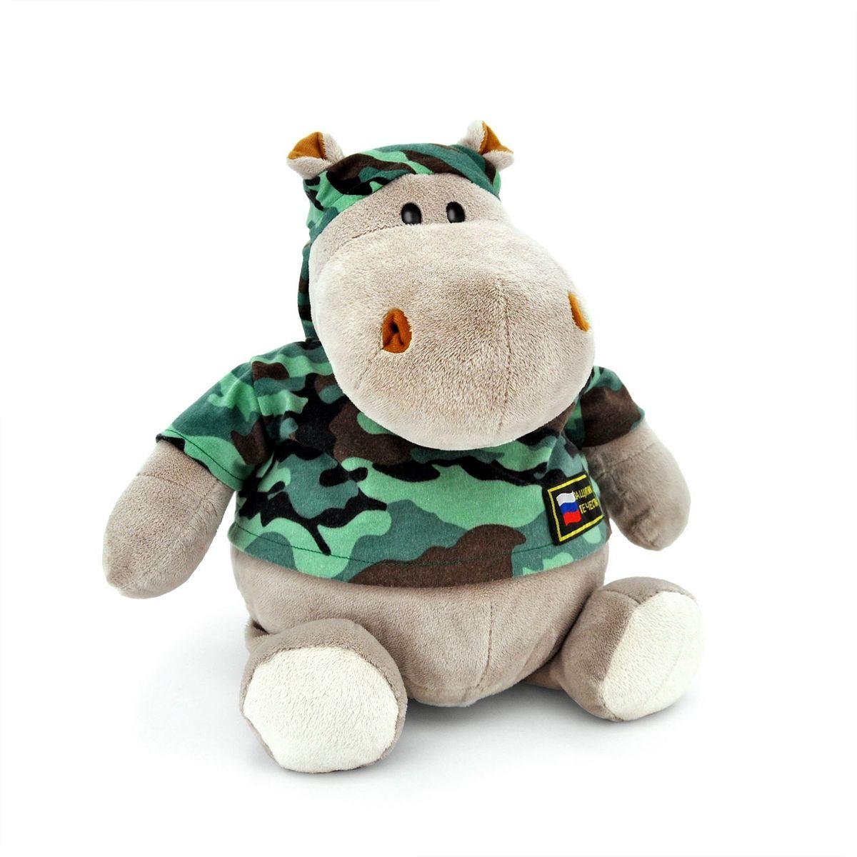 Orange Toys Мягкая игрушка Бегемот Военный 50 см