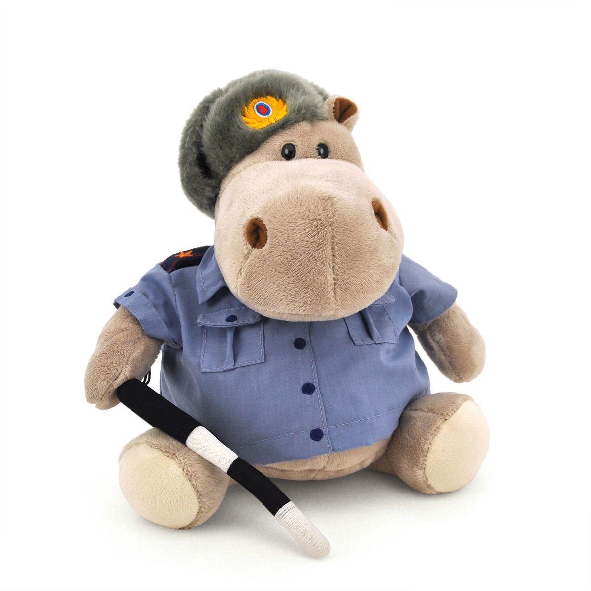 Orange Toys Мягкая игрушка Бегемот Полицейский 20 см