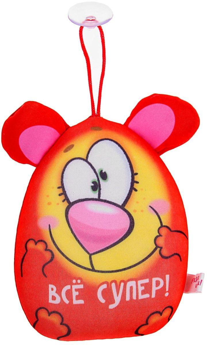 Sima-land Мягкая игрушка-антистресс озвученная Мишка Все супер цвет красный 15 см мягкая игрушка антистресс а м дизайн