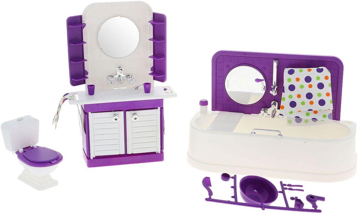Sima-land Мебель для кукол Ванная комната Конфетти sima land мебель для кукол гостиная 11 предметов 730418