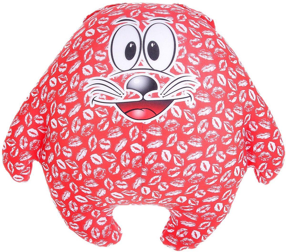 Мягкая игрушка-антистресс Кот Лаки 164052 подушки декоративные оранжевый кот подушка игрушка антистресс панда