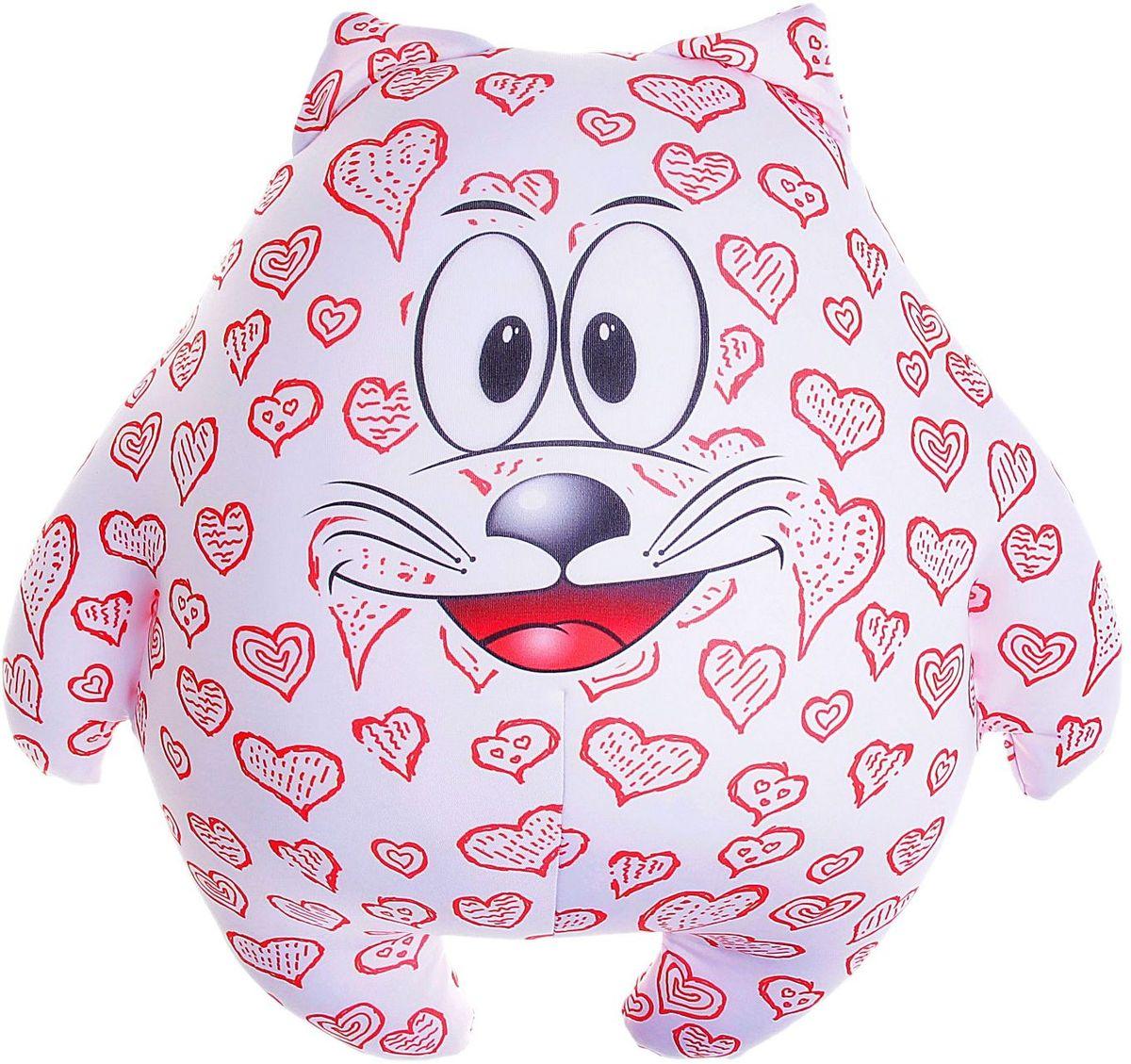 Мнушки Мягкая игрушка-антистресс Кот Лаки 39 см сувенир сувенирыч подушка игрушка антистресс кот цветочный