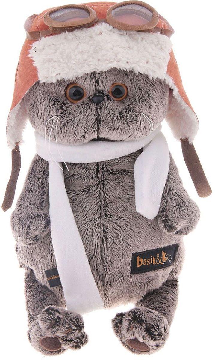 Басик и Ко Мягкая игрушка Басик в шлеме и шарфе 25 см 191120 пальто басик