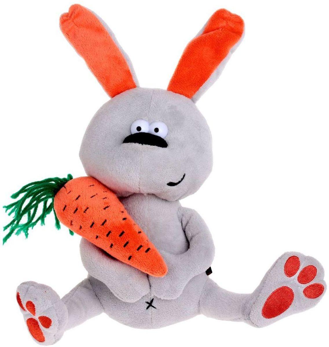 MaxiToys Мягкая игрушка Заяц & Morkovka 22 см kaloo мягкая игрушка заяц белочка 15 см