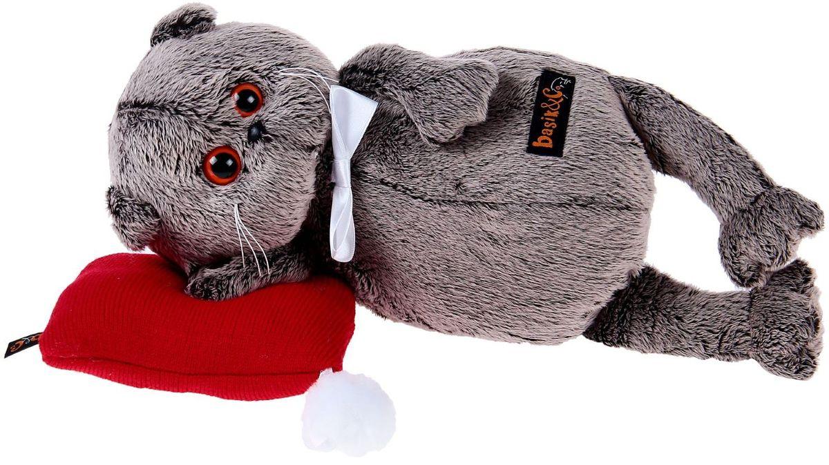 Басик и Ко Мягкая игрушка Басик в бабочке на подушке цвет красный 26 см 2059569 пальто басик