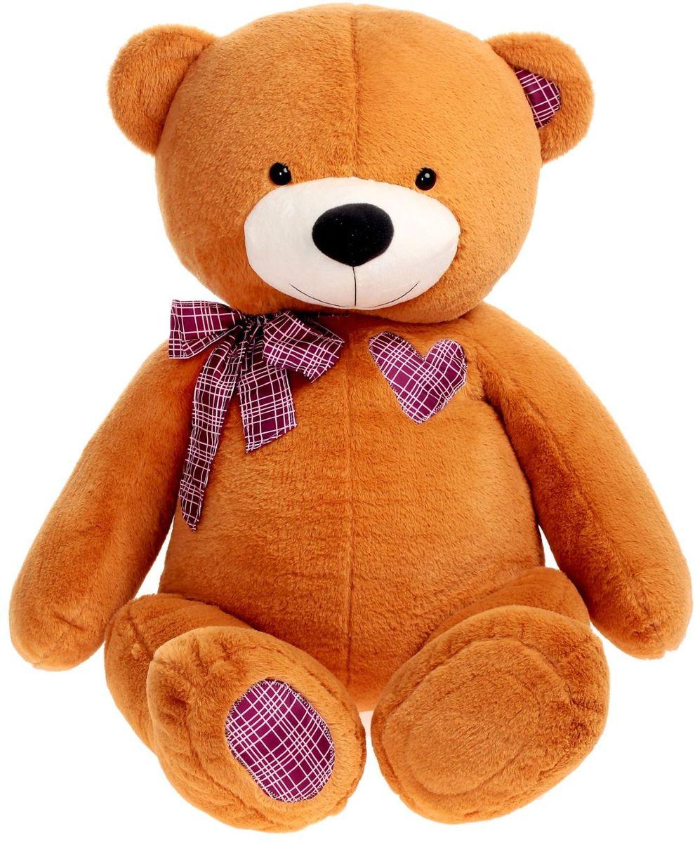 Плюшевый шар Мягкая игрушка Медведь цвет коричневый 100 см
