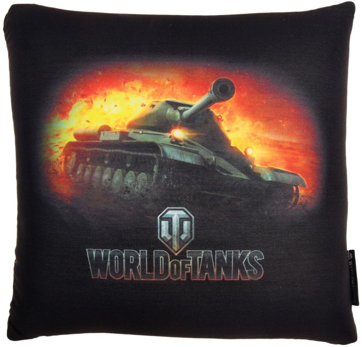 Maxitoys Подушка-игрушка World Of Tanks 15 см 2121438 подушки декоративные maxitoys декоративная подушка world of tanks