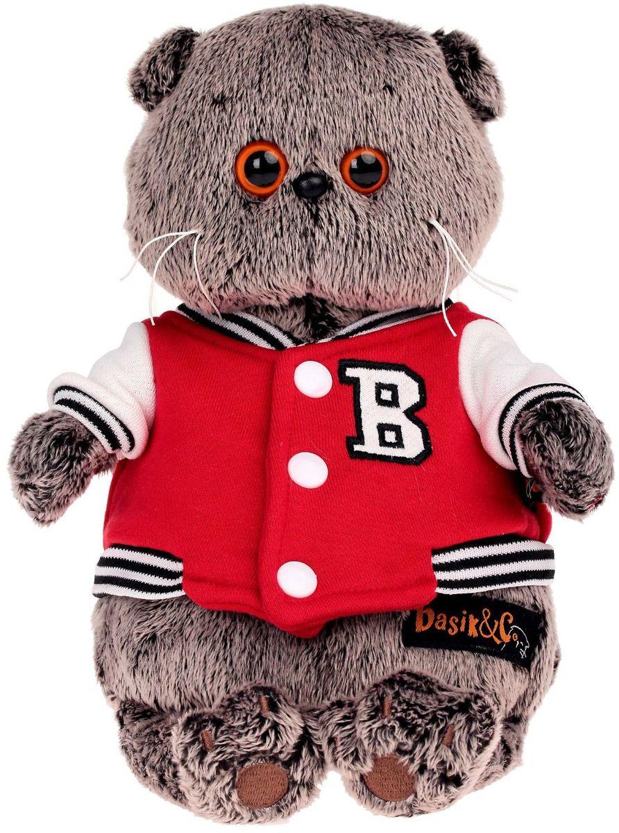 Basik & Ко Мягкая игрушка Басик в клубной куртке 22 см пальто басик