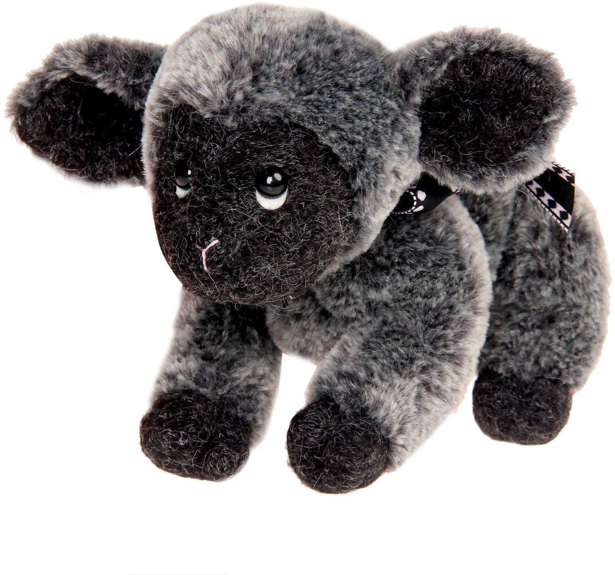 Gund Мягкая игрушка Овечка Amalya Black 12,5 см 2245476 малышарики мягкая игрушка собака бассет хаунд 23 см