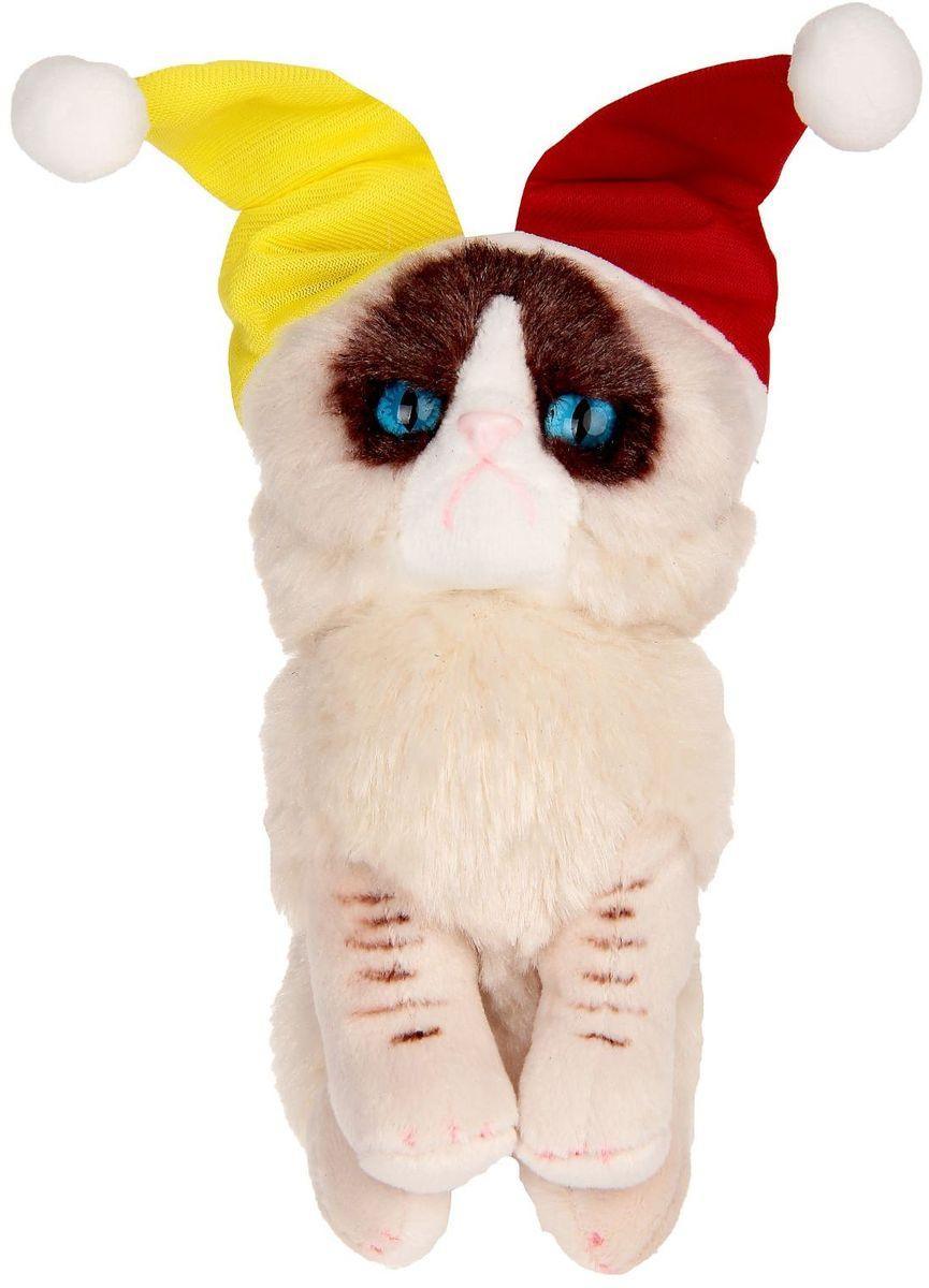 Gund Мягкая игрушка Кошка Grumpy Jester 12,5 см 2245485 малышарики мягкая игрушка собака бассет хаунд 23 см